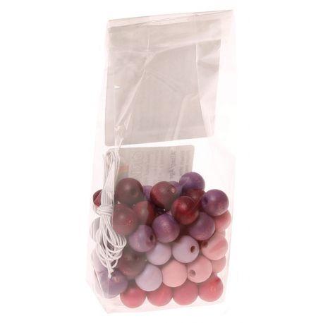 Paars-roze kralenset met kleine kralen (60 stuks), Grimms 10263