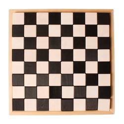 Zwart witte schaakbord bouwset, Grimms 93100