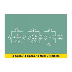 Waytoplay 4-delige uitbreidingsset kruispunten oude versie (crossing)