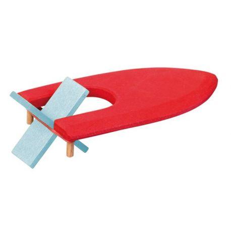 Houten elastiek bootje rood, Gluckskafer 526465