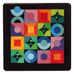 Magneetpuzzel vormen en glinsters, Grimms 91177