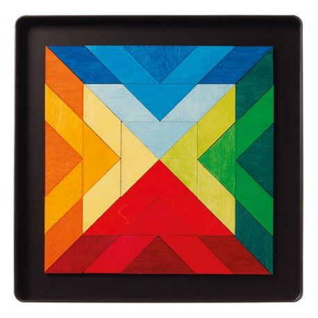 Magneetpuzzel vierkant indian, Grimms 90100