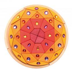 Mandala puzzel met glitterstenen, grimms 43086