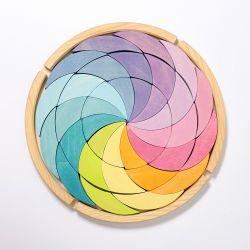 Puzzel pastel kleurencirkel, Grimms 43365