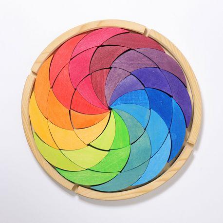 Puzzel regenboog kleurencirkel, Grimms 43366
