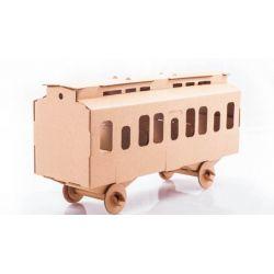 Kartonnen trein wagon bouwpakket, Leolandia L03023