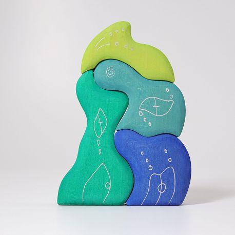 Waterhuis blauw en groen, Grimms 07314
