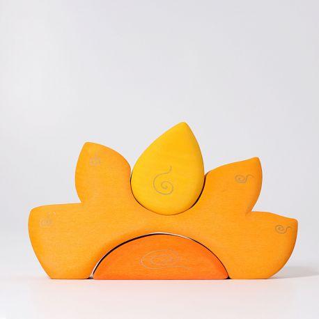 Zonnehuis geel en oranje, Grimms 07317