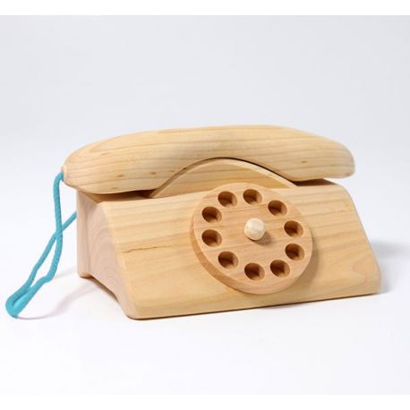 Houten telefoon met bel, Grimms 11330