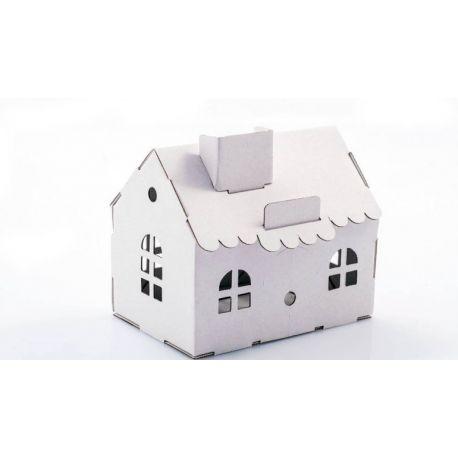 Kartonnen huisje bouwpakket
