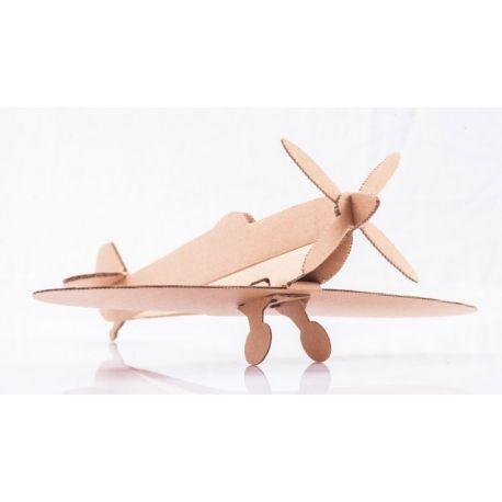 Kartonnen vliegtuig bouwpakket