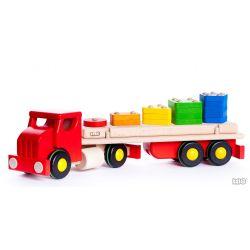 Grote houten truck met vormenset, Bajo 44710R