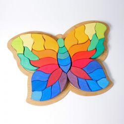 Houten puzzel vlinder, Grimms 43681