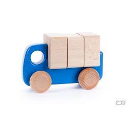 Houten truck met blokken, Bajo 42310