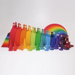 Grimms houten regenboog pakket