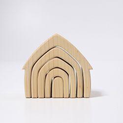 Naturel houten huisje, Grimms 10850