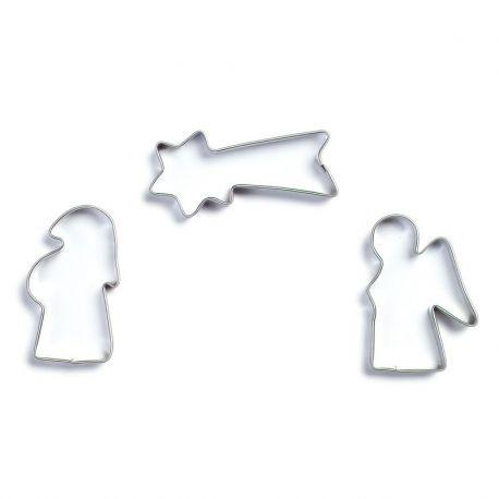 Bakvormen set van 3 kerst figuren, Gluckskafer 531655