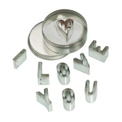 Bakvormen set I LOVE YOU (8 delig), Gluckskafer 531664