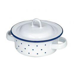Emaille kookpan laag 10 cm, Gluckskafer 530202