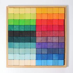 Regenboog mozaïek blokkenset groot, Grimms 42260