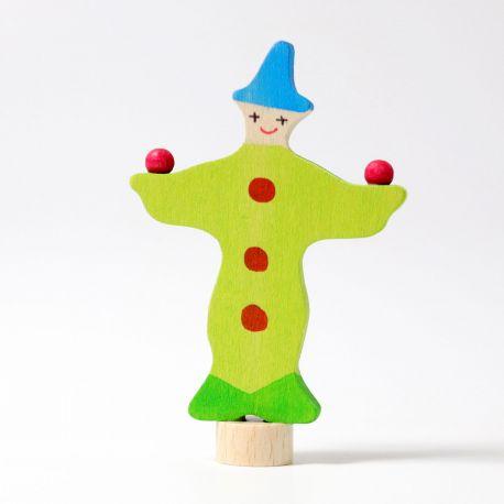 Houten jongleer clown, Grimms 03390