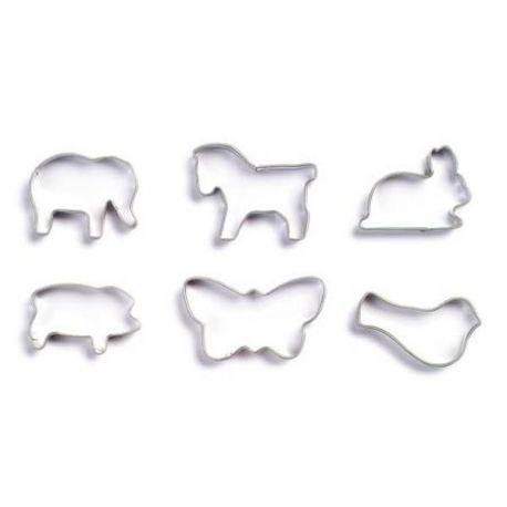 Bakvormen set van 6 dieren, Gluckskafer 531659
