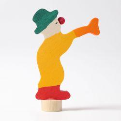 Houten clown met trompet, Grimms 03830