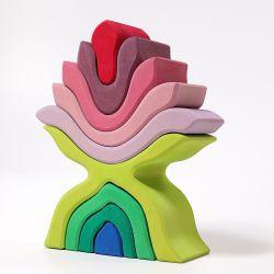 Kleurrijke houten bloem, Grimms 10900