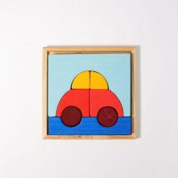 Houten puzzel Auto, Grimms 43692