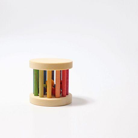 Mini rolwiel met kralen en belletjes, Grimms 08504