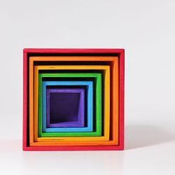 Gekleurde regenboog kistenset groot, Grimms 10370