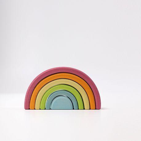 Houten pastel regenboog middel groot, Grimms 10701