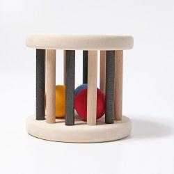 Zwart witte rolwiel met gekleurde ballen, Grimms 93010
