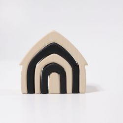 Zwart witte houten huisje, Grimms 93070