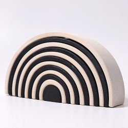 Grote houten zwart witte regenboog, Grimms 93050