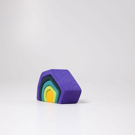 Houten basis element aarde klein, Grimms 10790
