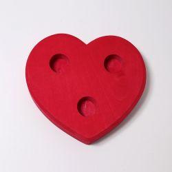 Figurenhouder rood hart, Grimms 00710