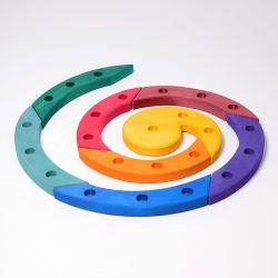 Figurenhouder spiraal gekleurd, Grimms 03210