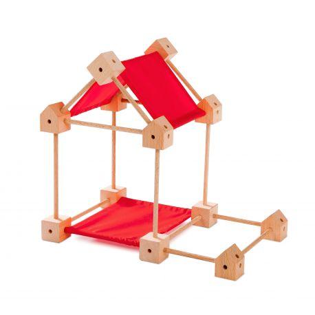 Trigonos mini houten bouwset (klein), Speelbelovend