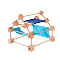 Trigonos mini houten bouwset (middel), Speelbelovend