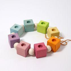 Figurenhouder pastel blokken, Grimms 01781