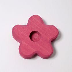 Figurenhouder roze bloem, Grimms 02705
