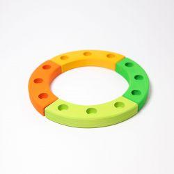 Figurenhouder cirkel groen-oranje, Grimms 02042