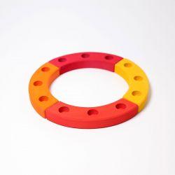 Figurenhouder cirkel geel-rood, Grimms 02022
