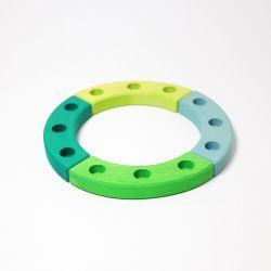 Figurenhouder cirkel groen-turquoise, Grimms 02052