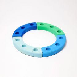Figurenhouder cirkel blauw-groen, Grimms 02062