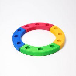 Figurenhouder cirkel gekleurd, Grimms 02080