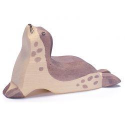 Houten zeehond met hoofd omhoog, Ostheimer 2251