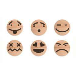 Houten emoticon set, Wodibow 0070400