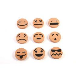 Houten nano emoticon set, Wodibow 0070300